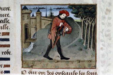 The lover, from a MS of the Roman de la Rose (MS Douce 195, 1v)